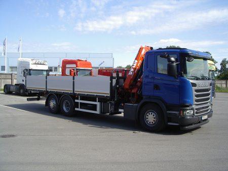 Scania G410 Atlas 172.3 tõstuki ning madelkastiga